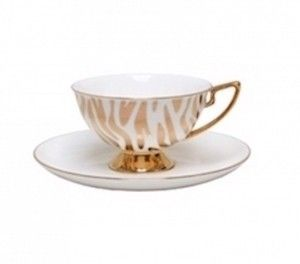 Christiana Vintage Zebra White Stripe Cup and Saucer