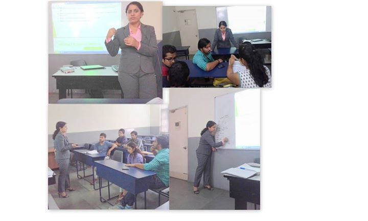 Skyline Business School, New Delhi organized a session for BBA students on ' Product Planning ' .The session was addressed by Ms Ankur Khushu , an IIM, Lucknow executive MBA with a total experience of about 7 Years , and latest experience on Marketing Strategy & Corporate Strategy with a market leader in manufacturing.