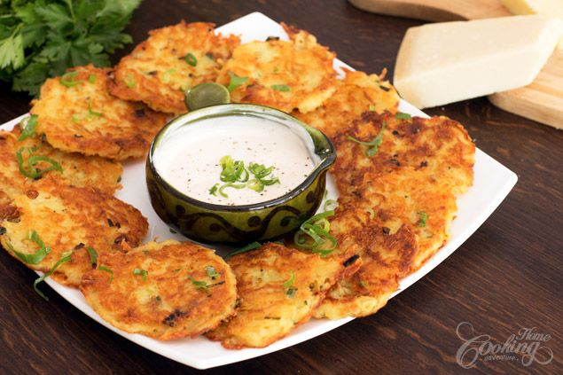 Cheese Potato Pancakes :: Home Cooking Adventure