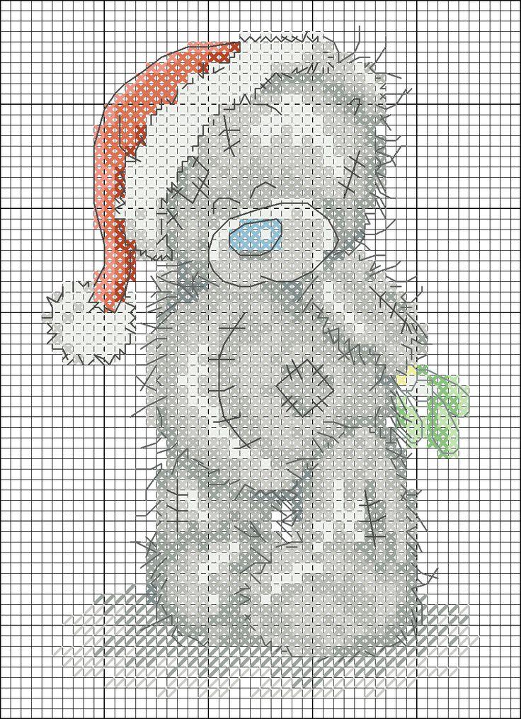 Teddi orso in un cappello di Babbo Natale