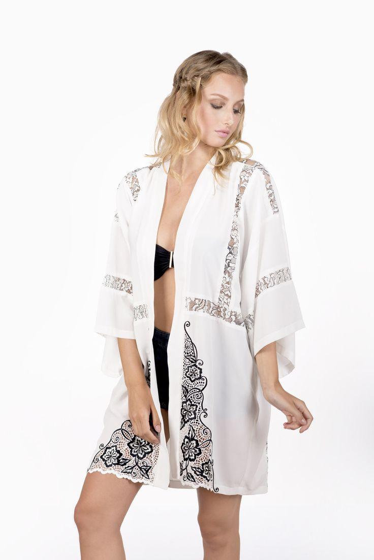 Saida De Praia Pareo Beach Dress Kaftan Swim Suit Cover Up Lace Stitching Embroidery Both Sides Plavky Coverups Cangas Strand