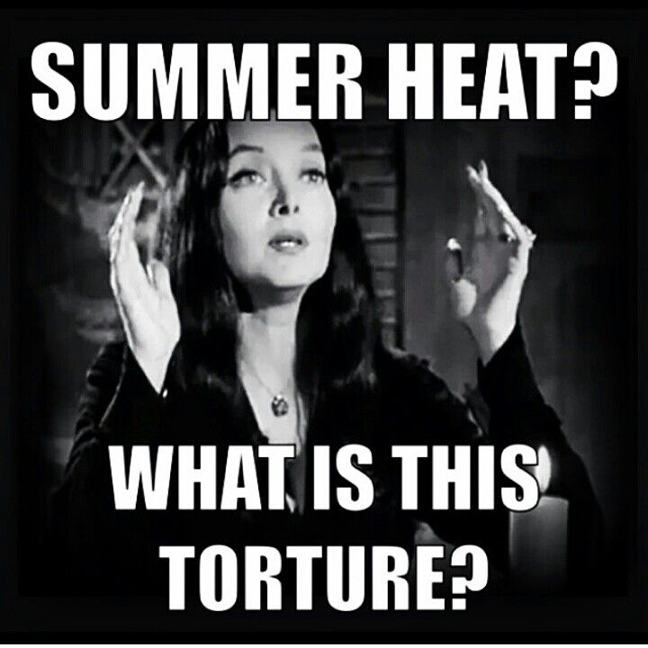 Morticia gets it i went outside today and got a tan...... WHY