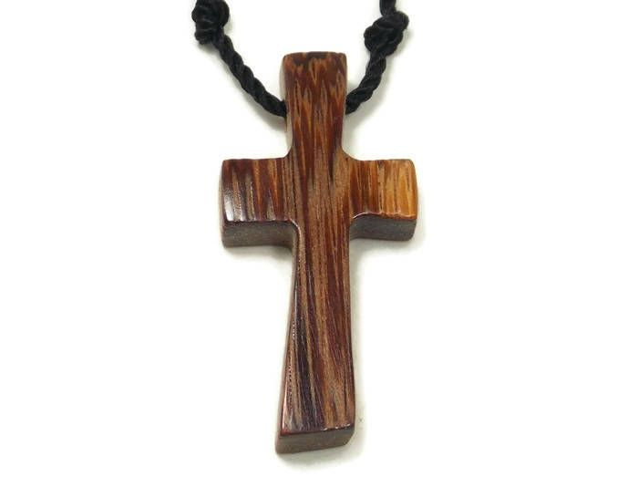 Excited to share the latest addition to my #etsy shop: Men's Cross Necklace, Cross Pendant Necklace, Mens Jewelry Cross, Religious Pendant, Wood Cross Necklace, Marblewood Cross Pendant http://etsy.me/2zl7lzM #jewelry #necklace #like2 #unisexadults #wood #Marblewood