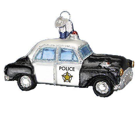 Police Car Ornament Old World Christmas