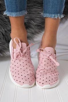 Ashton Cut Out Sneaker (Pink) - NanaMacs Boutique