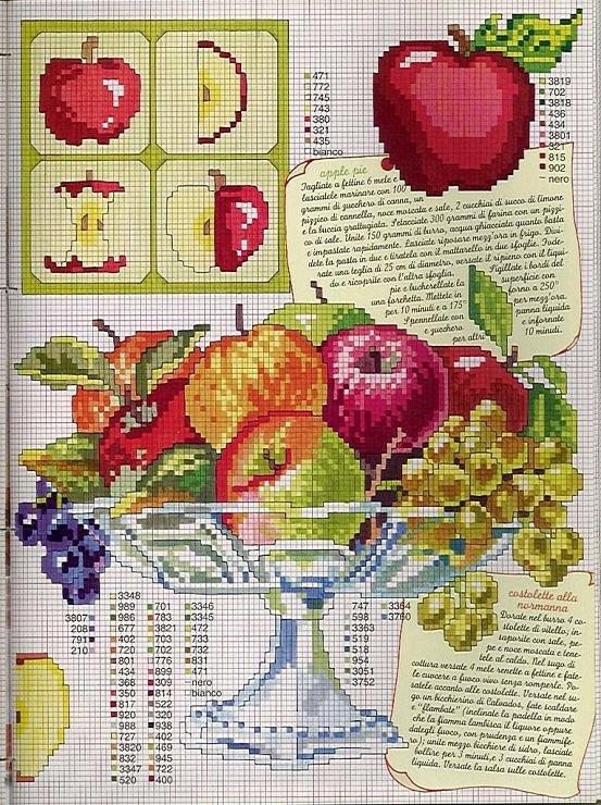 Cross-stitch Fruit Bowl...    (1) Gallery.ru / Foto # 1 - Enciclopedia Italiana Frutas e verduras - natalytretyak