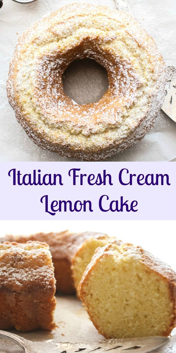 Italian fresh cream lemon cake an easy made from scratch for Easy bundt cake recipes from scratch