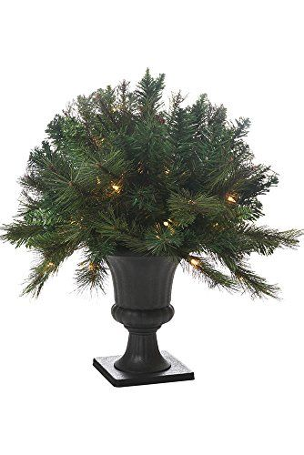 24 Savannah Potted Pine Prelit Artificial Christmas Tree *** Read more reviews of the product by visiting the link on the image.