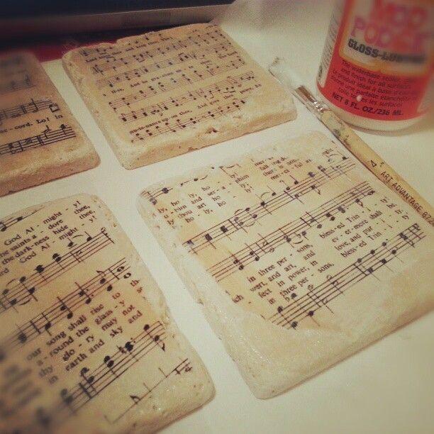 crafty ideas modern coasters. Hymn Coasters 136 best DIY images on Pinterest  Stone coasters Build