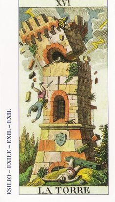 16-Cartas de Tarot - La Torre-Tarot, Astrología, Horóscopos, Metirta