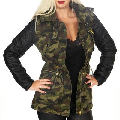 Damen-Parka im Armee-Look