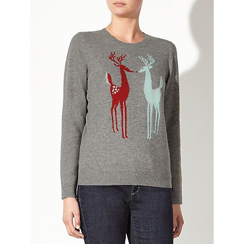 Buy Collection WEEKEND by John Lewis Vintage Reindeer Jumper, Multi Online at johnlewis.com