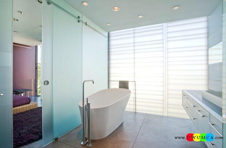 Bathroom:Decorating Modern Summer Bathroom Decor Style Tropical Bath Tubs Ideas Contemporary Bathrooms Interior Minimalist Design Decoration Plans Metal Towel Rack In A Minimalist Bathroom Cool and Cozy Summer Bathroom Style : Modern Seasonal Decor Ideas