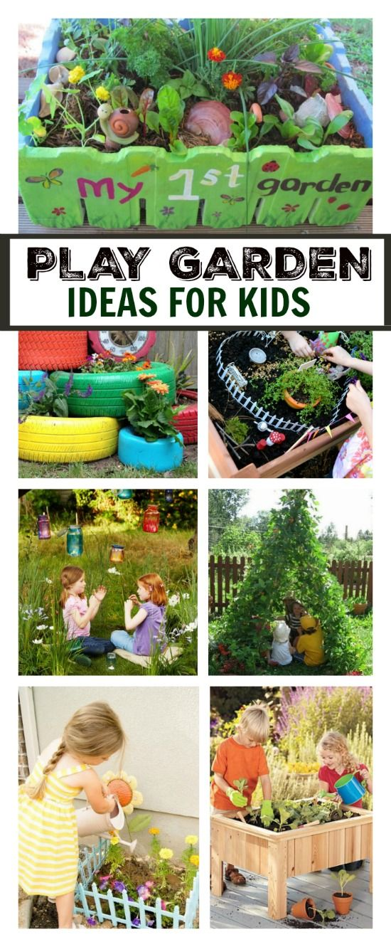 20+ super creative garden spaces & ideas for kids.   These are so cool!  Can I be a kid again please???