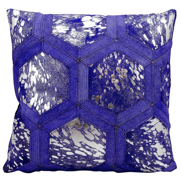 Metallic Synthetic Throw Pillow