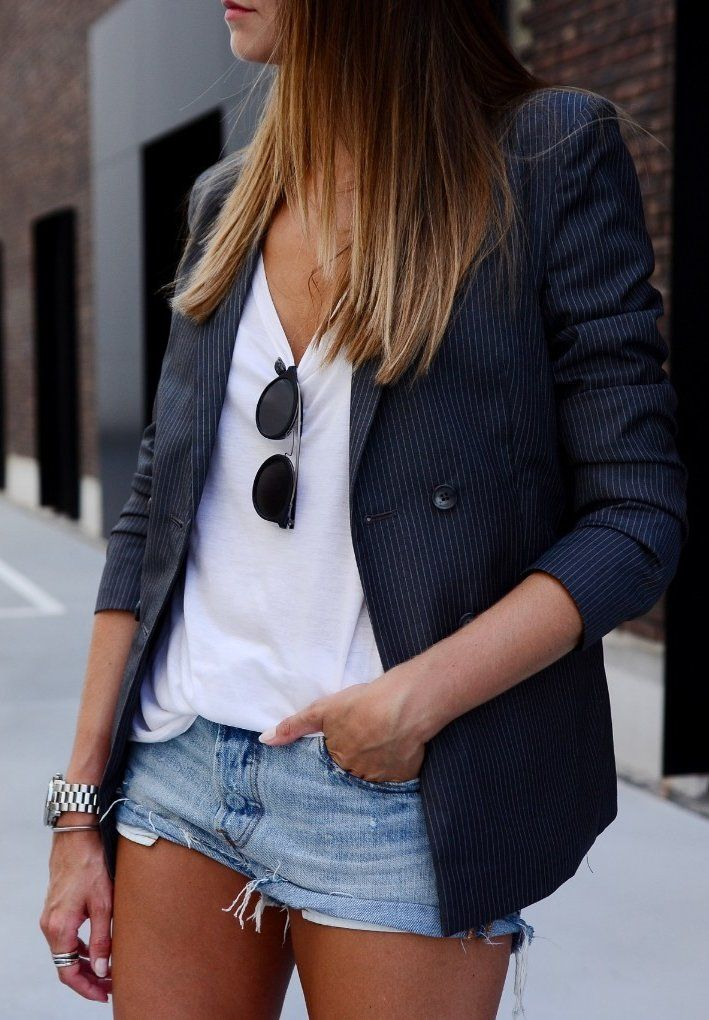 summer outfits  Blazer & Shorts
