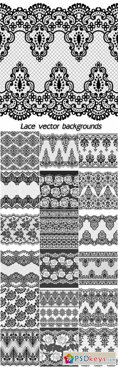 Lace, vector backgrounds with patterns