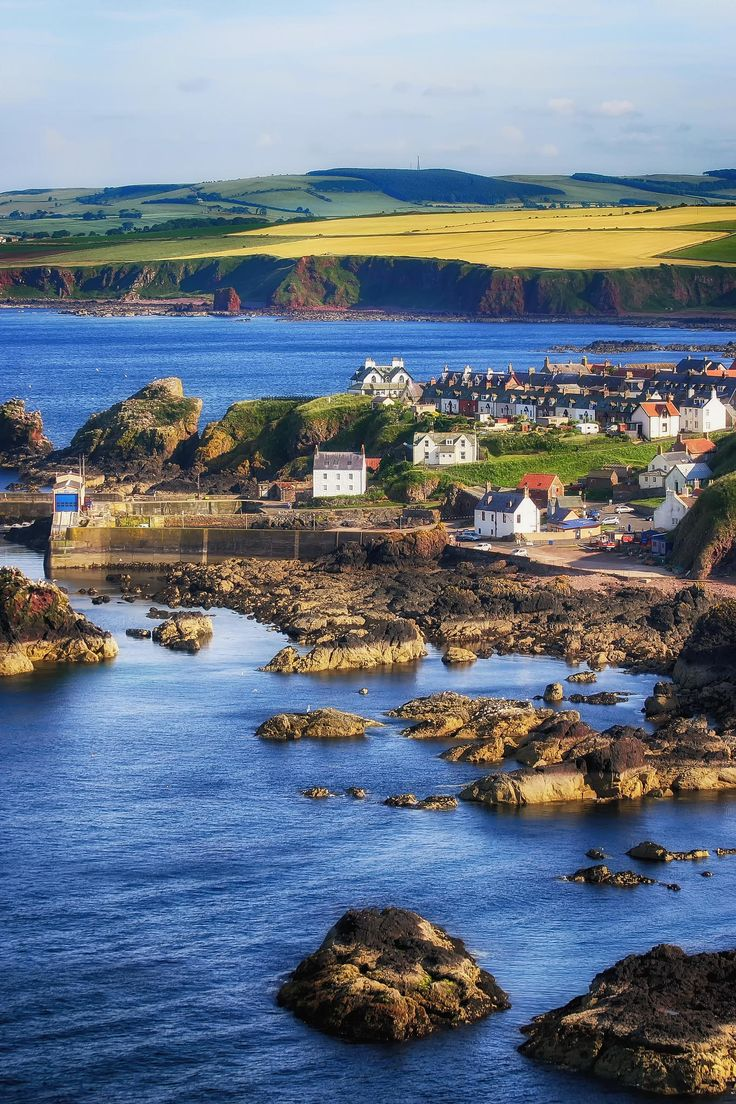 St Abbs Village - Scotland-can you imagine waking up and realizing you actually live here?