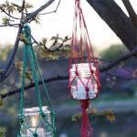 Make a Hanging Mason Jar Candle Holders