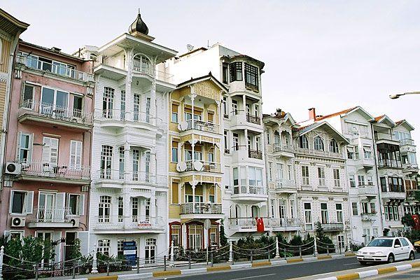 Ottoman buildings Along the Bosphorus Coast , East of the New City Istanbul