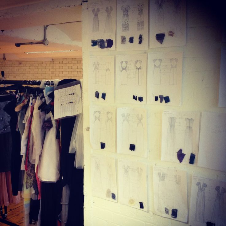 BEHIND THE SCENES: We're busy working on our Pre Fall 14 collection today at Catherine Deane HQ