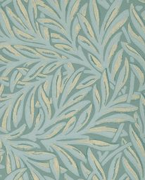 Tapet 81136: Tulip and Willow Thyme/Lichen från William Morris & Co - Tapetorama