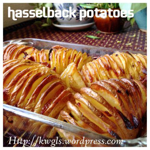 Hasselback Potatotes with bacon (烤土豆) #guaishushu   #Kenneth_goh  #hasselback_potatoes