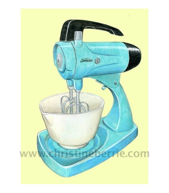 RETRO KITCHEN MIXER  Limited Edition Archival by ChristineBerrie