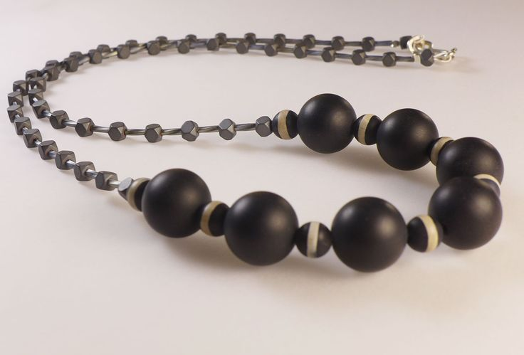 Long Onix & Agate Necklace
