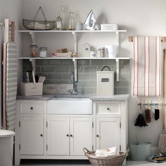 Organised utility room