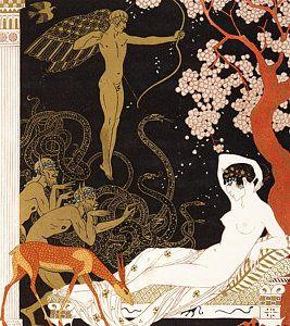 Mythology Painting - La Belle Helene by Georges Barbier