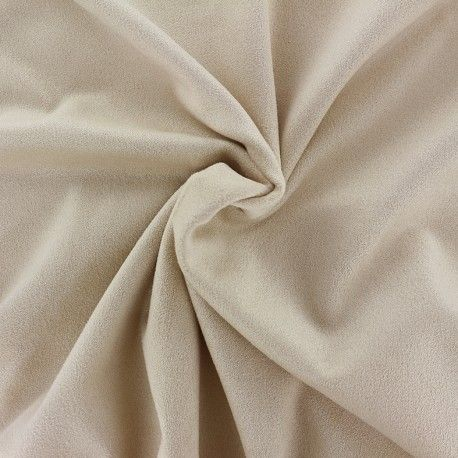 Tissu Suédine élasthanne Aspect daim - sable x 10cm