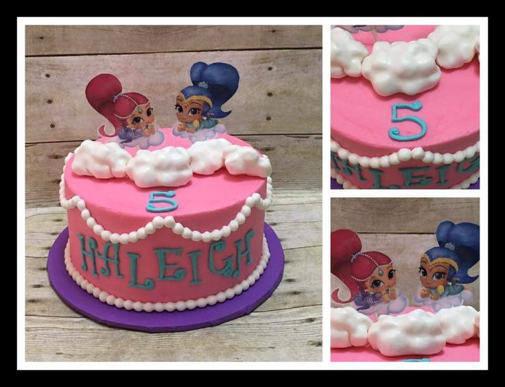 Shimmer and Shine 5th birthday cake