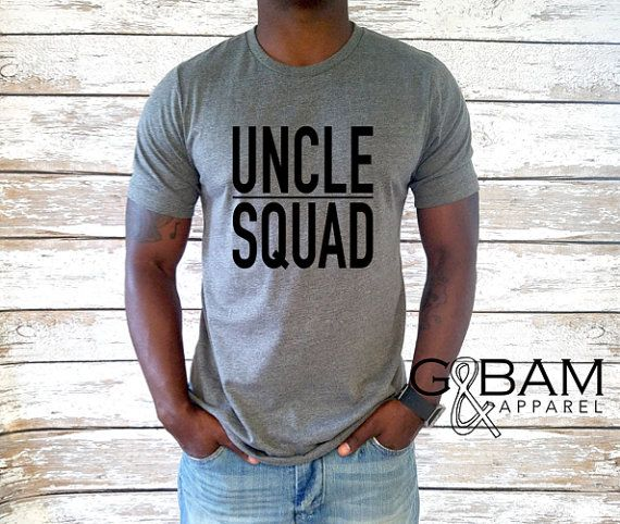 Uncle T-shirt / Uncle Squad Shirt / New Uncle by GandBamApparel