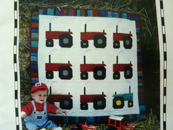 Child's Tractors Quilt Pattern - William's Quilt by Shirley McFarlane - Homespun Stitches