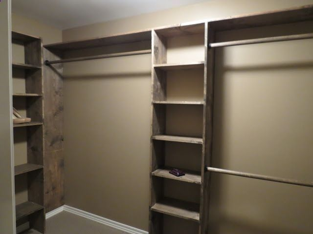 DIY closet shelves - Walk-in closets: No more living out of laundry baskets