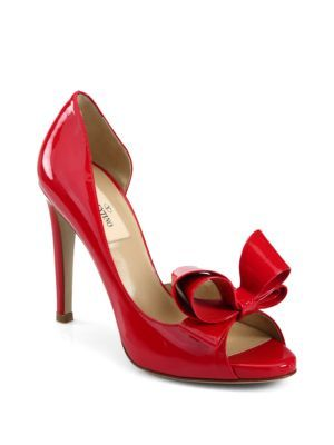 Patent Leather Couture Bow d'Orsay Pumps