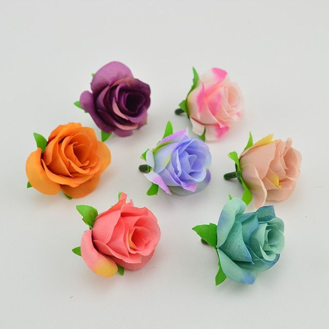 Silk Roses 10pcs 4cm Artificial Flowers Head For Home Christmas New Year Wedding Decoration Accessories Simulation Flower Review Artificial Flowers Silk Roses Flower Model