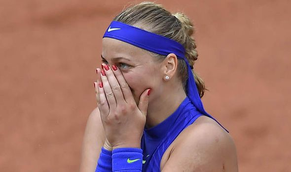 French Open 2017: Petra Kvitova makes emotional return following knife attack