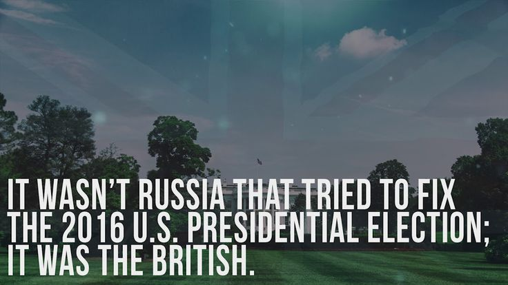 It wasn't Russia that tried to fix the 2016 U.S. presidential election; ...