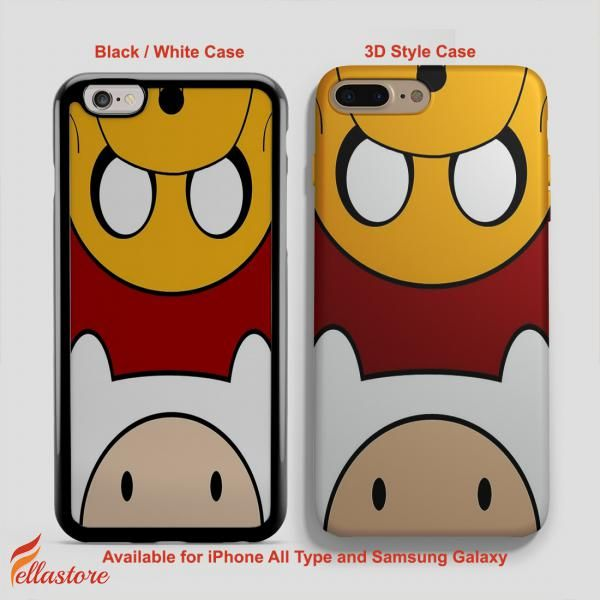 cool Cute Finn Jake Adventure Time Face iPhone 7-7 Plus Case, iPhone 6-6S Plus, iPhone 5 5S SE, Samsung Galaxy S8 S7 S6 Cases and Other