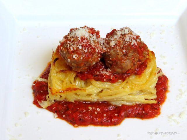Gebackene Spaghettis mit Meatballs ♡