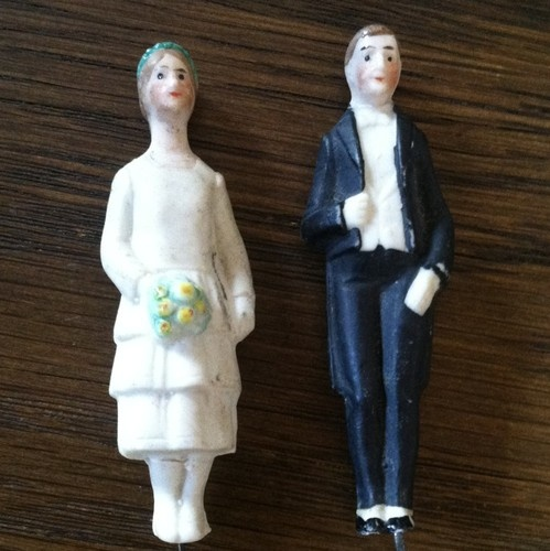Antique Hertwig Cake Topper