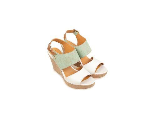 CORK SHOES: Wedge Sandal <br> Mint - by @rutzwalkincork