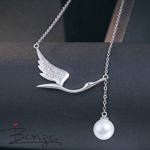 Feel exquisite.. Solid 925 Sterling silver plated with white gold http://www.bonzafashion.com.au    #bonzafashion #fashion #stylish #women #Necklace
