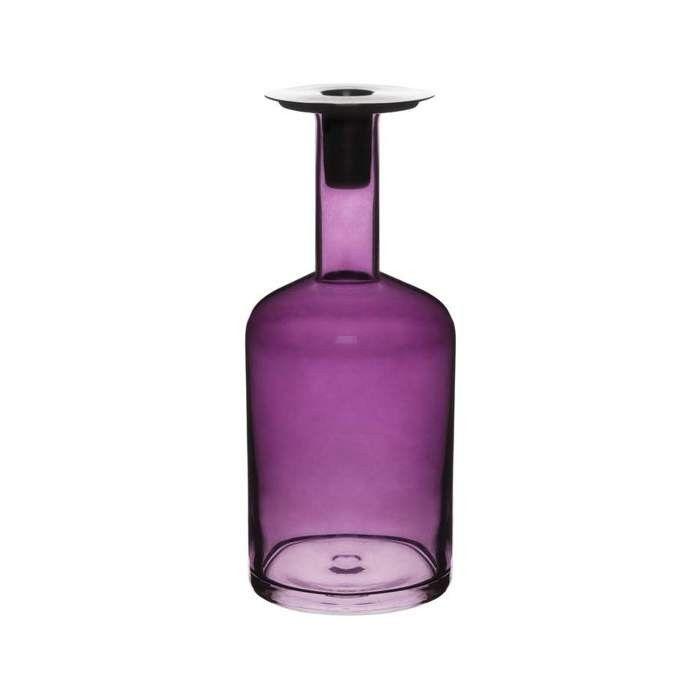 Świecznik Sagaform Pava, purpurowy duży | sklep PrezentBox - akcesoria, zegary ścienne, prezenty