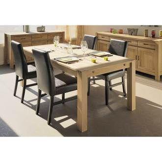 Table � manger rectangulaire bois finition huil�e - L180xl90xH76cm HAWKE
