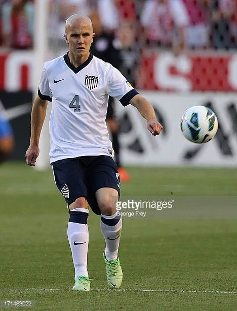Michael Bradley of the United States kicks the ball down field during a game against Honduras during the second half of an World Cup Qualifying March...