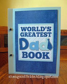 Free printable book for Father's Day or a gift for a dad's birthday.