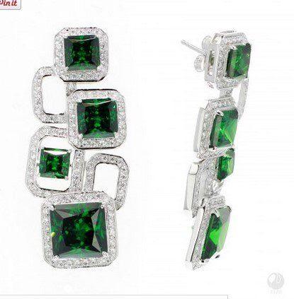 Romantic Pathway Earrings - 950 Siledium Silver http://bit.ly/1lK8iuE CAD2,367